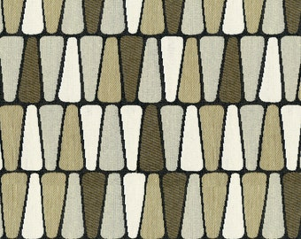 Scaled Geometric Upholstery Fabric - Refreshing Print for Transitional to Modern Decor. Color: Terrazzo Driftwood - Per Yard