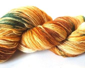 Hand painted Merino Cashmere Nylon yarn hand dyed: Knock on wood