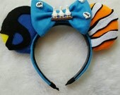 Just Keep Swimming Friends Mouse Ear Headband with Bow