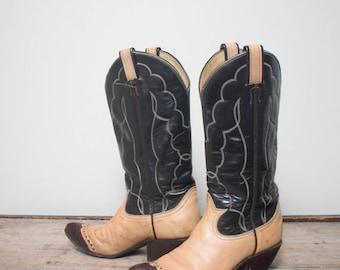 40% off Sale 5.5 B | 1970's Women's Tony Lama Lizard Wingtip Western Boots