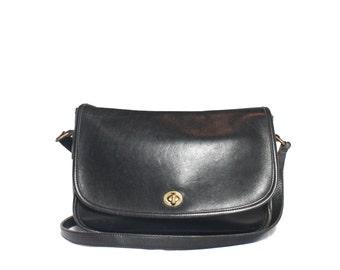 Vintage COACH 9790 Black Leather Handbag