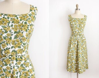 vintage 1960s dress // 60s Liberty of London floral dress