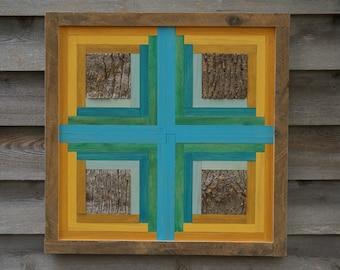 Framed Wood Quilt