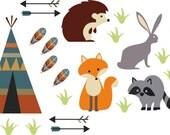 Woodland Creatures-Set of Decals