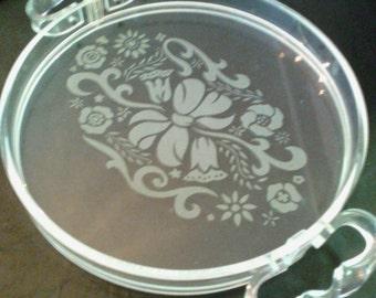 SALE  1940s acrylic lucite vanity tray