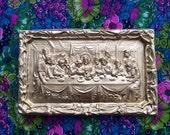 Golden Last Supper Plaque /// Series 1 of 5 /// Plaster Relief Mold