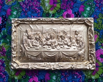 Golden Last Supper Plaque /// Series 1 of 5 /// Plaster Relief Mold