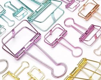 Binder clips/ black/pink/gold/turquoise/orange/AC010
