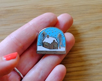 Snow Globe Enamel Lapel Pin Brooch