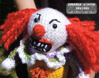 Pennywise Doll, amigurumi horror clown crochet stephen king ready to ship