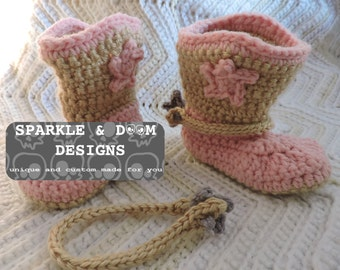 Spurs for Cowboy Boot Booties, crochet spurs ONLY made to order