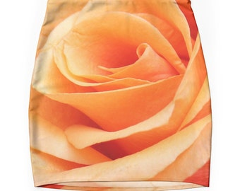 Rose Skirt, Bodycon Skirt, Floral Skirt, Valentines Day