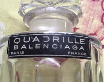 "Vintage  bottle of French parfum ""Quadrille "" by Balanciaga"