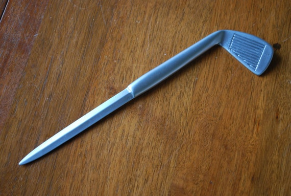 vintage silvertone letter opener golf club desktop With golf letter opener