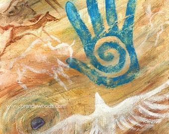 Shamanic Journey Native American Shaman Shamanism Cave Art fine art print - Brandy Woods