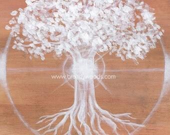 Shamanic Journey Native American Shaman Shamanism World Tree fine art print - Brandy Woods