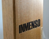 ON SALE Inmenso Wood Cigar Box, Craft Supply Box, Upcycle / Recycle Project box