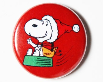 Jolly Snoopy - 1 inch Button, Pin or Magnet