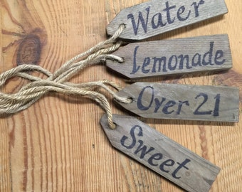 Rustic Beverage Tags
