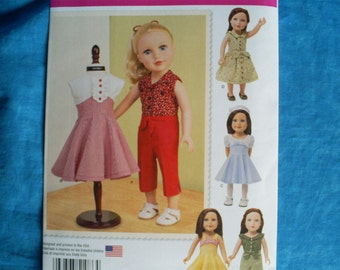 simplicity 1086 for 18 inch doll clothes.