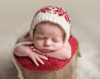 Christmas, hat, newborn, winter, photography, coming home outfit, photography prop, baby, knit, boy, girl, baby shower gift, newborn outfit