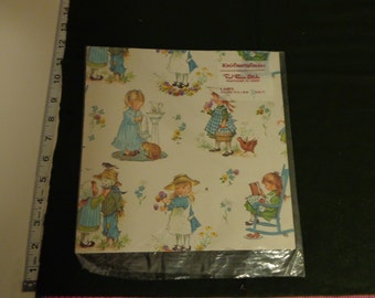 Vintage Wrapping Paper Kim's Country Cousins from Red Farm Studio 1 Sheet only