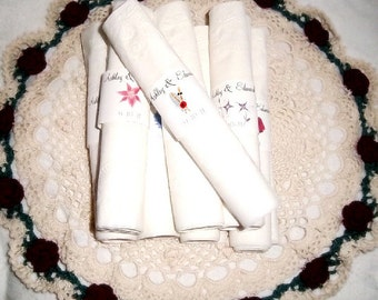 100 Baseball Wedding Napkin Ring Cuffs Wraps. Personalized Favors