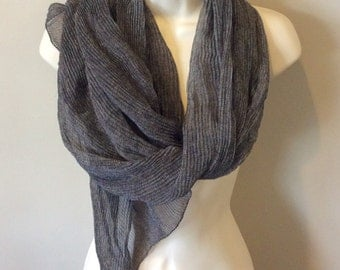 Jil Sander Vintage Black and White Scarf