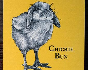 Chickie Bun Woodblock