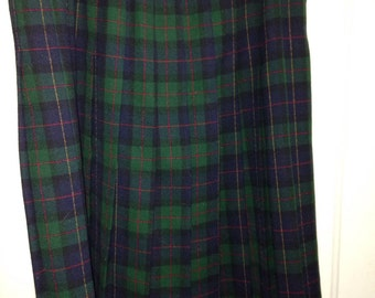 Alfred Dunner vintage plaid skirt SZ 14 made in u.s.a.