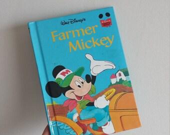 Farmer Mickey Mouse Notebook - Handmade from a Disney book