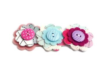 Felt flower embellishments scrapbooking autumn fabric arts and crafts die cut shapes pre cut flower
