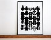 NEW Circles. Handmade screenprint A3 or 11.7 x 15.7 in.