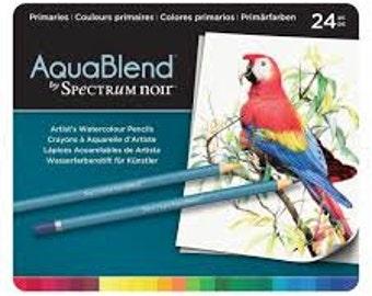 Spectrum Noir AquaBlend Watercolour Pencils - PRIMARIES