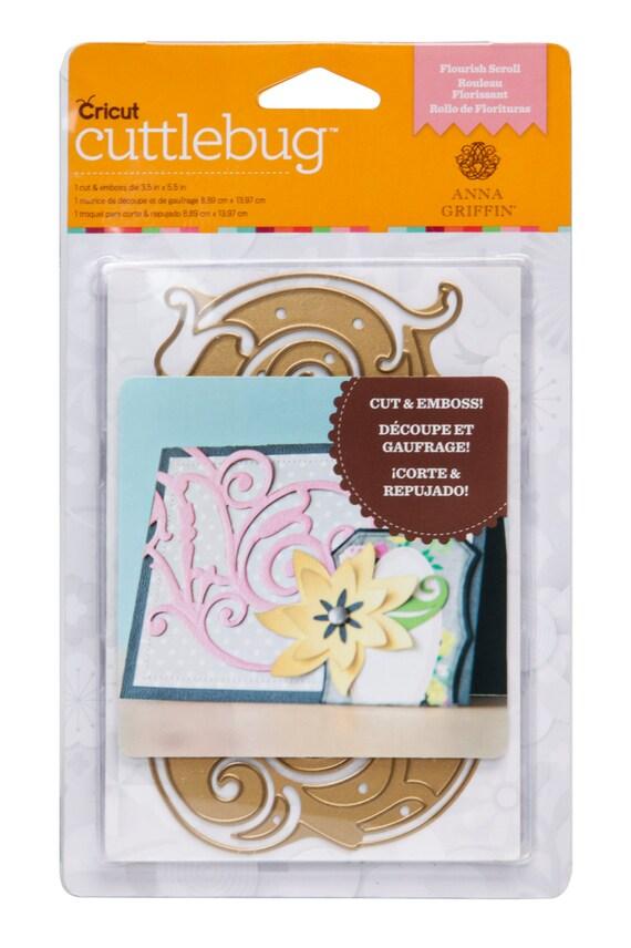 Cricut cuttlebug anna griffin flourish scroll cut emboss die for Www cuttlebug crafts com