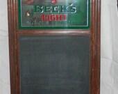 Beck's Beer Vintage Chalkboard/Mirror