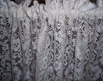 Ivory lace curtains | Etsy