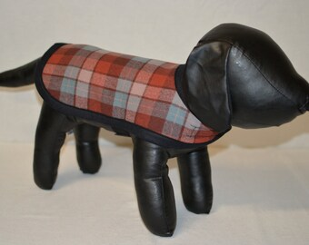 Spring Dog Coat - Plaid dog coat small xs toy miniature dogs fully adjustable shirt weight wool surfer board shirt boardshirt wool
