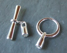 Qty 3 glue in end cone and toggle clasp 3mm #cl434