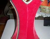 Vintage Hourglass Shape Red Velvet Lamp Shade