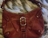 Perlina New York brown leather satchel handbag