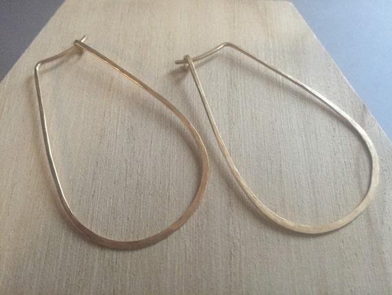 14k gold-fill Hammered Hoop Earrings