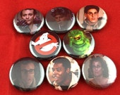 """8 Brand New 1"""" """"Ghostbusters"""" Button Set"""