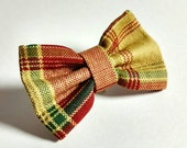 Cat or Dog Bow Tie - Sweet Fall Plaid