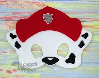Marshall Dalmation Paw Patrol - Felt Dress Up Mask - Birthday Party Favor Halloween