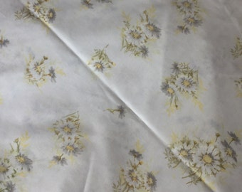 Vintage Full Fitted Bedsheet, Yellow Daisies