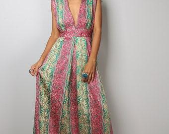 Boho Dress - Sleeveless Dress  - African Dress - Funky Maxi Dress : Oriental Secrets Collection