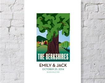 Berkshires, mountains and trees, keepsake / print