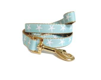 Nutical Dog Leash, Starfish Dog Lead, Dog gift ideas