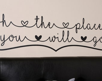 oh the places you will go - v2 - Wall Decal